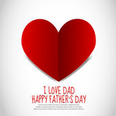 Father's Day Paper Heart — Vector de stock