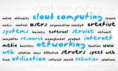 Cloud Computing Word Cloud — Stock Vector