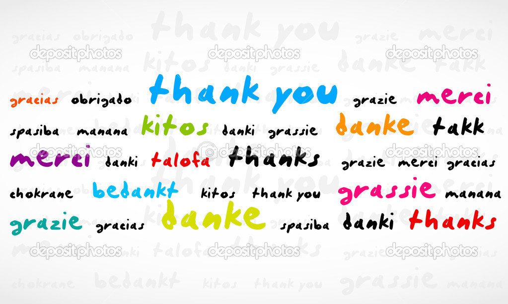 Thank You Word Cloud abstract vector background, eps 10  Stock Vector #10615915
