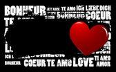 Amour grunge — Vecteur