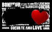 Grunge kärlek — Stockvektor