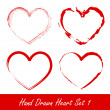 Hand drawn heart set 1 — Stock Vector