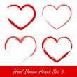 Hand drawn heart set 3 — Stock Vector