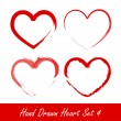 Hand drawn heart set 4 - Stock Vector
