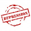 Depression rubber stamp — Stock Vector