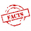 Постер, плакат: Facts rubber stamp