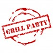 Royalty-Free Stock Vector Image: Grill party grunge stamp