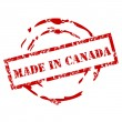 Grunge Made in Canada stamp — Stock Vector