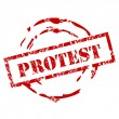 Protest stamp — Stock Vector
