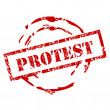 Stock Vector: Protest stamp