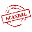 Stock Vector: Grunge Scandal Stamp