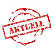 Aktuell Rubber Stamp — Stockvektor