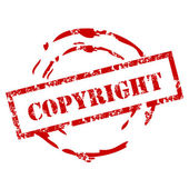 Copyright rubber stamp — Stock Vector