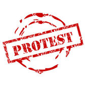 Protest stamp — Stockvektor