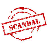 Grunge Scandal Stamp — Stock Vector