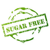 Sugar Free grunge stamp — Stock Vector