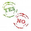 Yes and No Stamps — Stock Vector