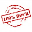 Grunge 100% Rock stamp — Stock Vector