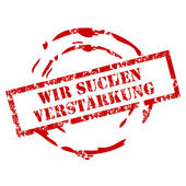 Verstarkung rubber stamp — Vector de stock