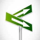 Crossroad Arrows — Stock Vector