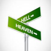 Hell or Heaven sign — Stock Vector
