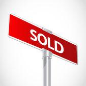 Vendeu o sinal — Vetor de Stock