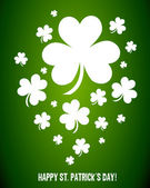 Irish Shamrock Clovers Vector — Stock Vector