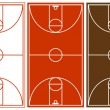 Stock Vector: Vector Basketball Court Set