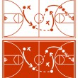 Stock Vector: Basketball Strategy Plan