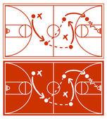 Basketball Strategy Plan — Stock Vector