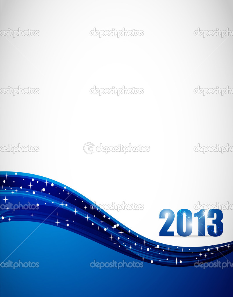 2013 shiny blue vector background — Stock Vector #9377985