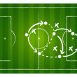 Soccer game strategy — Stock Vector