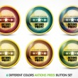 Colorful Aktionspreis button set - Stock Vector