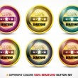 Colorful 100% Beratung button set - Stock Vector