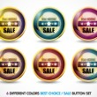Stock Vector: Colorful Best choice sale button set