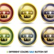 Colorful Sale button Set — Stock Vector