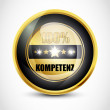 100% Kompetenz Button - Stock Vector