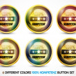 Colorful 100% Kompetenz Button Set — Stock Vector