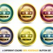 Colorful 100% Kostenlos Button Set - Stock Vector