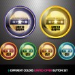 Colorful Limited Offer Button set — Stockvectorbeeld