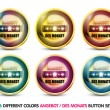 Colorful Angebot des Monats button set - Stock Vector