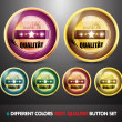 Colorful 100% Qualitat Button Set - Stock Vector