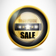 Best price sale button - Stock Vector