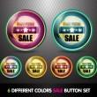 Colorful Sale 'Best Price' Button Set — Stock Vector