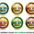 Colorful 100% zufirieden button Set - Stock Vector