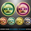 Colorful Top Angebot! Button set - Stock Vector