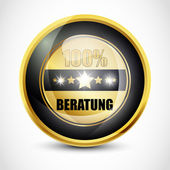 100% Beratung button — Vector de stock