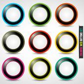 Colorful web button set — Stock Vector