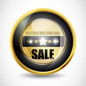 Glansigt salu knappen — Stockvektor
