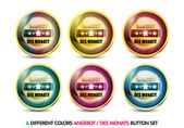 Colorful Angebot des Monats button set — Stock Vector